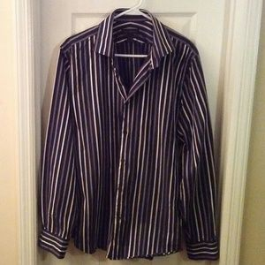 Express Design Studio Men Dress Shirt Large